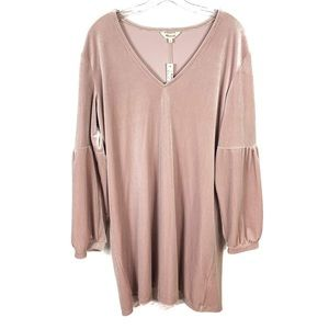 NEW🍾Madewell Velvet Balloon Long Sleeve Dress